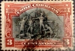 Sellos del Mundo : America : Chile : Intercambio 0,75 usd 3 cent. 1910