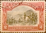 Sellos de America - Chile -  Intercambio 0,25 usd 2 cent. 1910