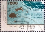 Stamps : America : Chile :  Intercambio hbr 0,25 usd 200 escudos 1974