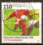 Sellos de Europa - Alemania -   FC Kaiserslautern campeon de la Bundesliga 1997/98.
