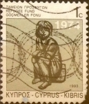Stamps : Asia : Cyprus :  1 cent. 1993