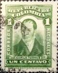 Sellos de America - Colombia -  Intercambio 0,20 usd 1 cent. 1917