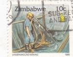 Sellos de Africa - Zimbabwe -  TECNICAS PARA EXCAVACIÓN