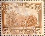 Stamps : America : Colombia :  Intercambio 0,20 usd 5 cents. 1932