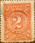 Sellos del Mundo : America : Colombia : Intercambio 0,20 usd 2 cents. 1908