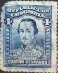 Stamps : America : Colombia :  Intercambio 0,20 usd 4 cents. 1926
