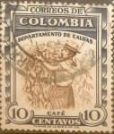 Stamps : America : Colombia :  Intercambio 0,20 usd 10 cents. 1958
