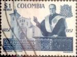 Stamps : America : Colombia :  Intercambio 0,20 usd 1 peso 1959