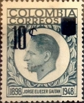 Sellos de America - Colombia -  Intercambio 0,20 usd 10 sobre 3 cents. 1959