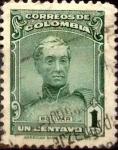 Stamps : America : Colombia :  Intercambio 0,20 usd 1 cents. 1917