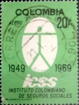Stamps Colombia -  Intercambio 0,20 usd 20 cents. 1969