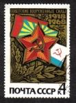 Stamps Russia -  50 aniversario del Ejercito Rojo