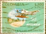 Stamps : America : Colombia :  Intercambio 0,20 usd 2 pesos 1969