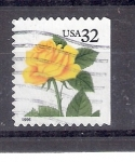 Sellos de America - Estados Unidos -  Rosa amarilla