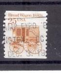 Stamps United States -  Vagón de pan, década de 1880