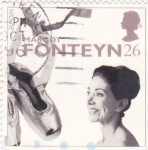 Stamps United Kingdom -  MARGOT FONTEYN- Bailarina