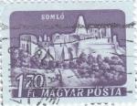 Sellos de Europa - Hungría -  PANORÁMICA DE SOMLÓ