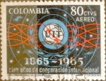 Stamps : America : Colombia :  Intercambio 0,20 usd 80 cents. 1965