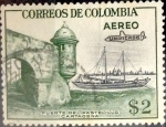 Stamps : America : Colombia :  Intercambio 0,20 usd 2 pesos 1959