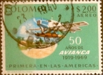 Stamps : America : Colombia :  Intercambio 0,25 usd 2 peso 1969