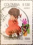Sellos de America - Colombia -  Intercambio 0,25 usd 1,50 pesos 1969