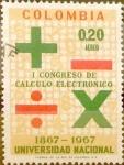 Stamps : America : Colombia :  Intercambio 0,20 usd 0,20 pesos 1968