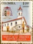 Stamps : America : Colombia :  Intercambio 0,20 usd 1 peso 1964