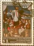 Stamps : America : Colombia :  Intercambio 0,20 usd 1 peso 1968