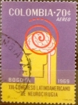 Sellos del Mundo : America : Colombia : Intercambio 0,30 usd 70 cents. 1969