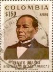 Stamps : America : Colombia :  Intercambio 0,20 usd 1,50 pesos 1972
