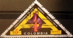 Stamps : America : Colombia :  Intercambio 0,35 usd 5 pesos 1969