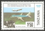 Stamps Tanzania -  Control del tráfico aéreo