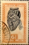 Stamps : Africa : Democratic_Republic_of_the_Congo :  Intercambio aexa 0,25 usd 6 francos 1948