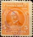 Sellos del Mundo : America : Costa_Rica : Intercambio 0,20 usd 5 cents. 1910