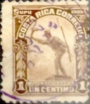 Sellos del Mundo : America : Costa_Rica : Intercambio 0,20 usd 1 cent. 1910
