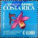 Stamps : America : Costa_Rica :  Intercambio nfxb 0,30 usd 80 cents. 1975