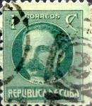 Stamps Cuba -  Intercambio 0,20 usd 1 cent. 1917
