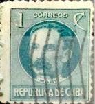 Stamps : America : Cuba :  Intercambio 0,20 usd 1 cent. 1917