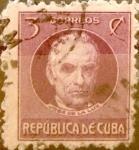 Sellos de America - Cuba -  Intercambio 0,20 usd 3 cents. 1917
