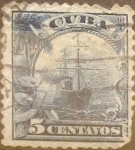 Sellos del Mundo : America : Cuba : Intercambio 0,20 usd 5 cents. 1899