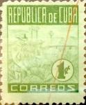 Stamps Cuba -  Intercambio 0,20 usd 1 cent. 1948