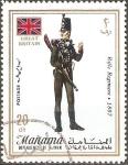 Stamps United Arab Emirates -  UNIFORMES  MILITARES.  REGIMIENTO  DE  RIFLES  1807