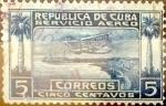 Stamps Cuba -  Intercambio 1,00 usd 5 cents. 1927