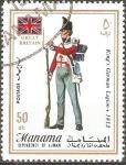Stamps United Arab Emirates -  UNIFORMES  MILITARES.   LEGIÒN  ALEMANA  DEL  REY  1812.