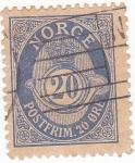 Sellos de Europa - Noruega -  CORNETA Y CIFRAS