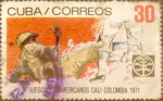 Sellos de America - Cuba -  Intercambio 0,50 usd 30 cents. 1971