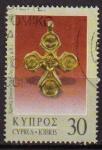 Stamps Asia - Cyprus -  CHIPRE 1980 Michel 532 SELLO OBJETO DE ARTE ANTIGUOS ARQUEOLOGIA BUSTO