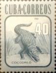 Sellos de America - Cuba -  Intercambio 1,00 usd 40 cents. 1981