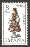 Stamps Spain -  2017 - Traje típico de Zamora