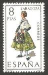 Stamps Spain -   2018 - Traje típico de Zaragoza